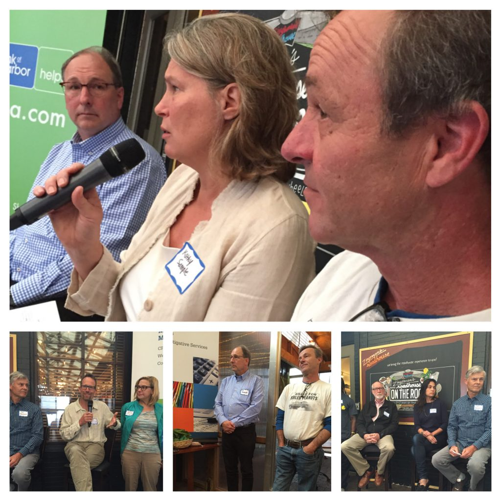 collage of photos from the Local Food Economy event