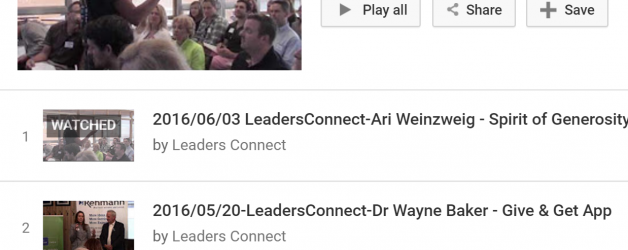 Archive of Leaders Connect Videos
